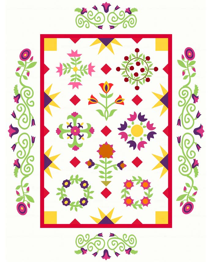 Miniature quilt design