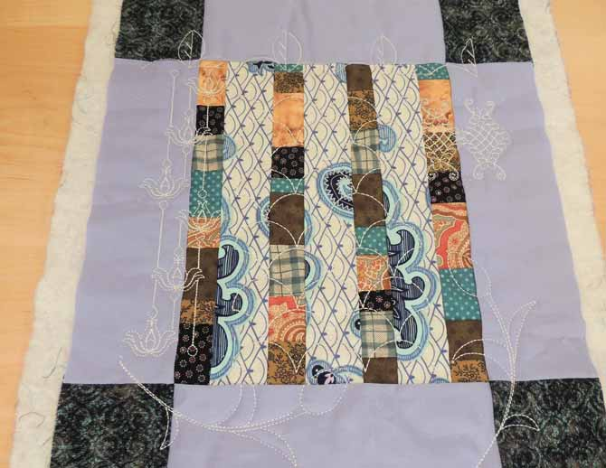Quilted mini quilt