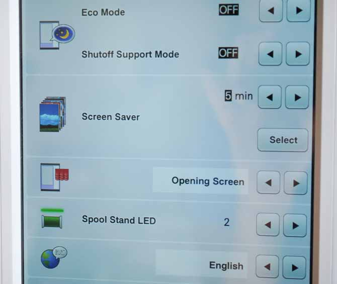 On one of THE Dream Machine 2's setting screens you can set how long the machine waits before a screen saver appears on the LCD screen and what type of opening screen appears when you turn the machine on.