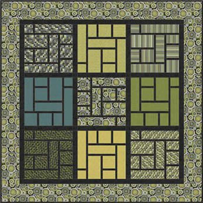 "The Mosaic Maze quilt pattern was made using the ""Modern Love"" line of fabric from Northcott."