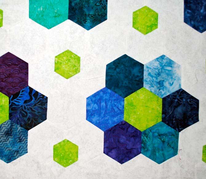 My hexagon quilt in progress