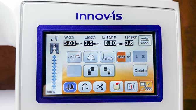 Brother NQ3500D stitch screen