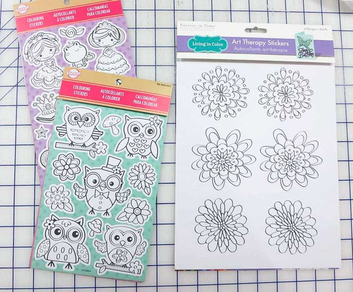 Black and white sticker designs from the dollar store make great embroidery designs!