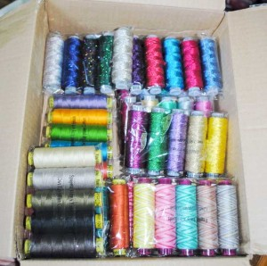 Opening up the box of WonderFil Threads