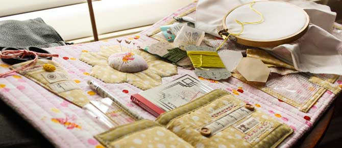 ... and when you get to where you're going, your stitching world comes with you. Pretty, practical and oh, sew portable!