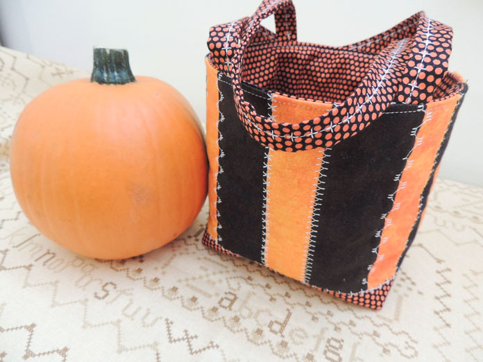 Orange and black side of friendship bag
