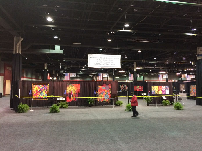 View from the entrance of the International Quilt Festival in Chicago