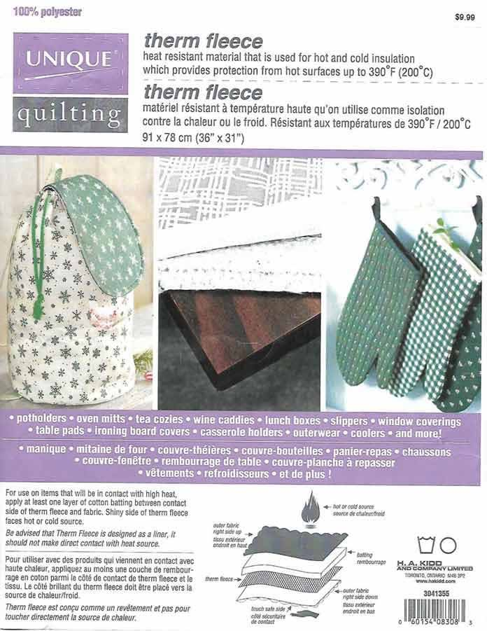 Therm Fleece by UNIQUE quilting