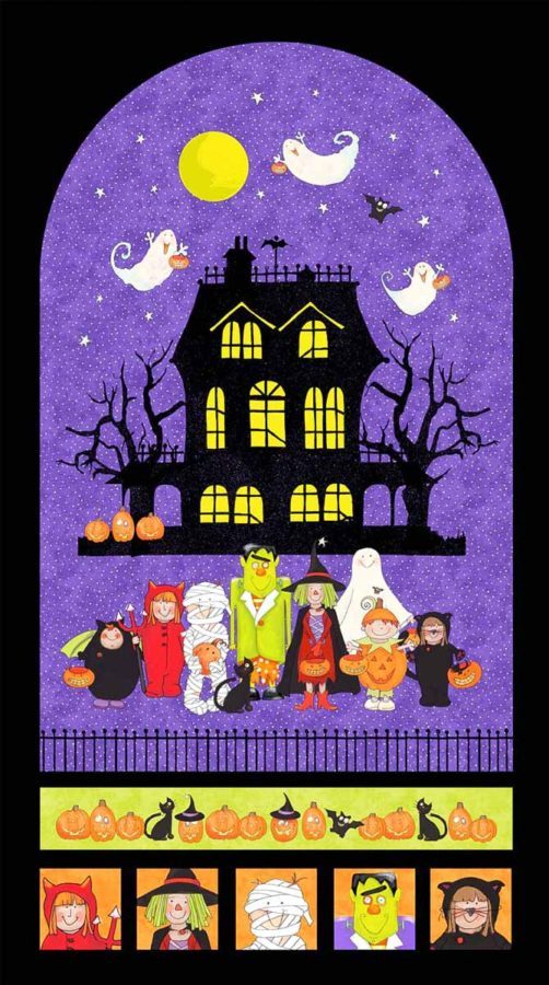 Panel from Northcott's Happy Halloween Collection