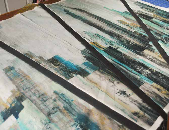 The panel with sashing strips
