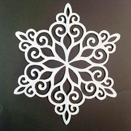 Paper snowflake unfolded