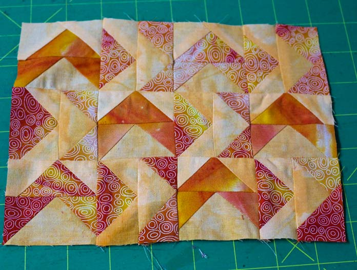 Flying Geese blocks are done.