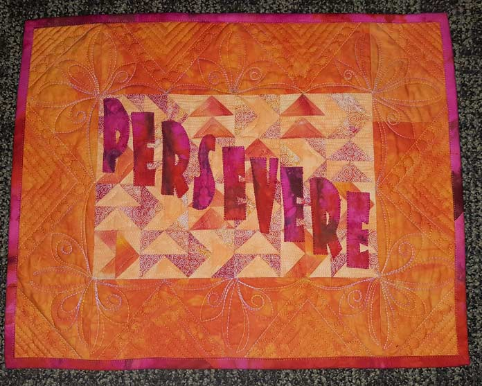 PERSEVERE wallhanging