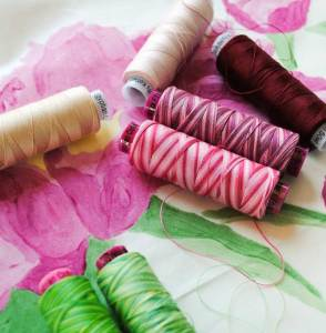 Picking threads for the peony