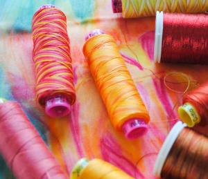Tutti, Fruitti and Spagetti threads to match the tulip