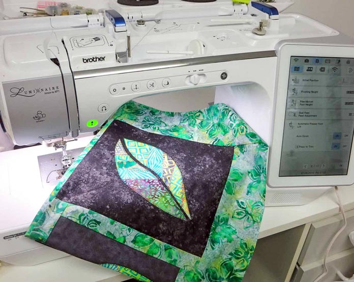 Quilting options on the Brother Luminaire sewing and embroidery machine