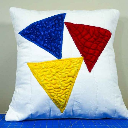 The triadic triangle pillow
