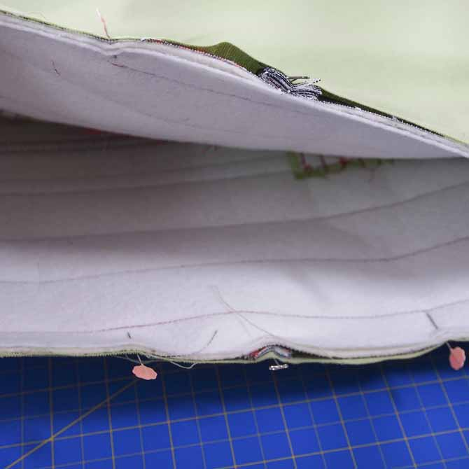 Inner and outer bags pinned together