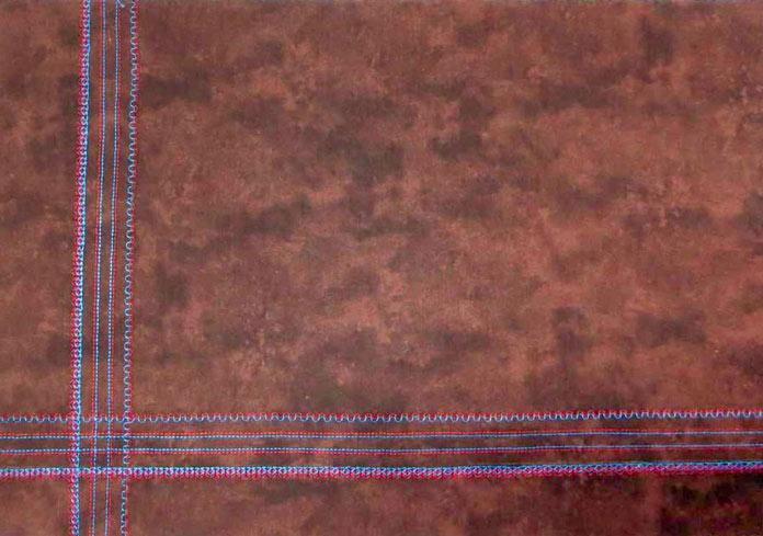 Twin needle decorative stitching