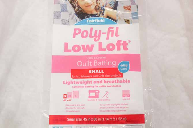 This is one of the many sizes available of Fairfield Poly-Fil Low-Loft batting