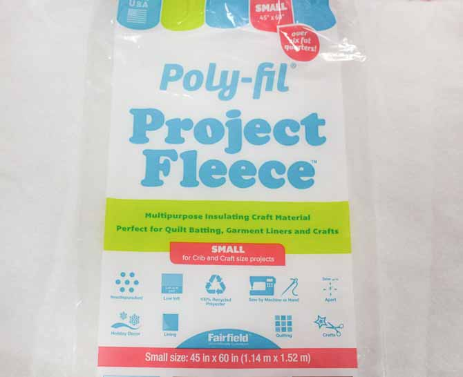 Poly-Fil Project Fleece from Fairfield - batting review on QUILTsocial