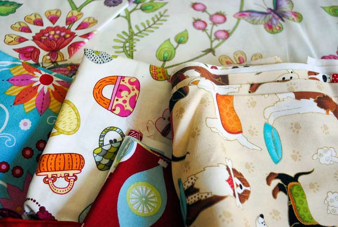 Possible fabrics to use for my thread painting sample