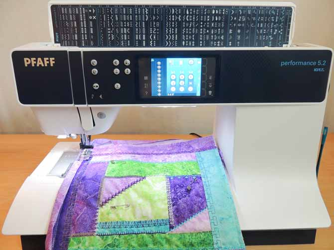 Sewing on the binding Performance 5.2