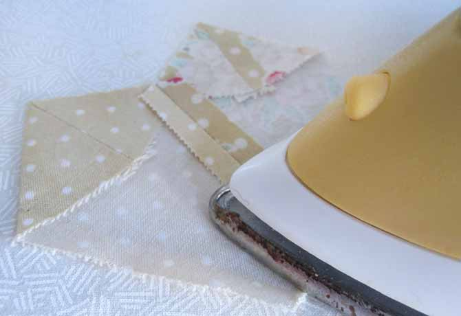 Press the seams open as you sew.