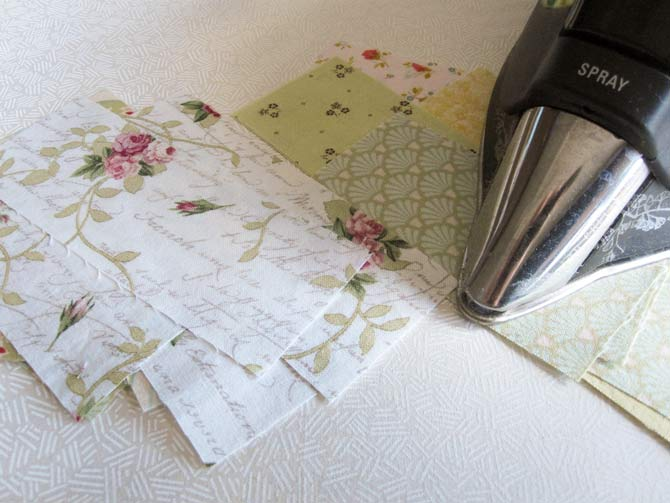 "Once the scraps are cut into 2"" wide strips, press them well with steam to ensure they are wrinkle free."