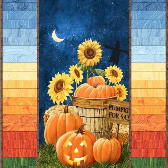 Pumpkins for Sale panel with a pieced Sandscapes border