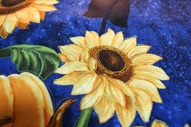Quilted with WonderFil Fruitti #06 Sunflower