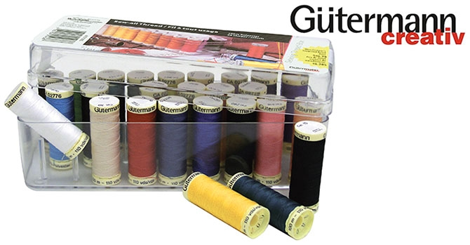 WEEKLY GIVEAWAY!  Gütermann 26 spool thread assortment!