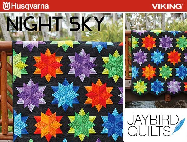 WEEKLY GIVEAWAY!  Night Sky by JayBird Quilts