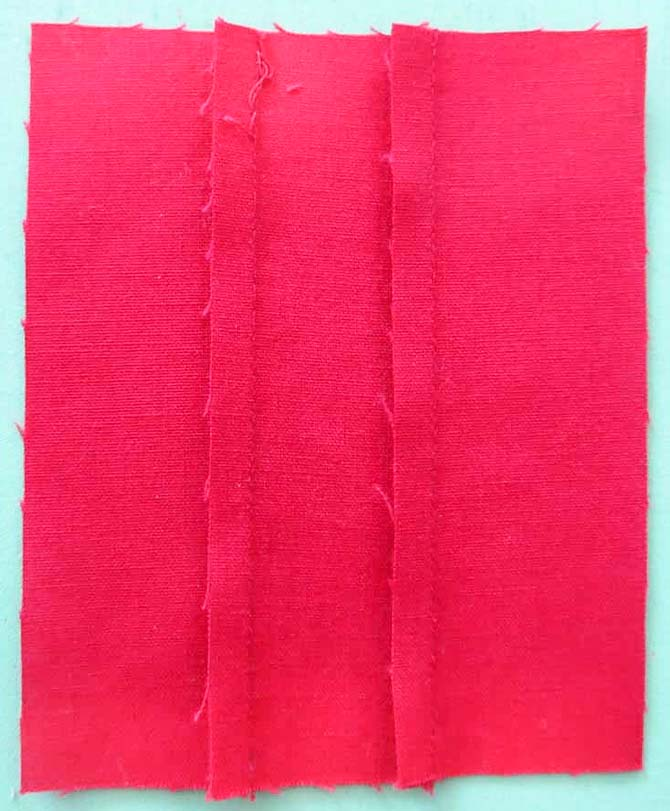 "Sew 3 - 1½"" strips together to find your perfect ¼"" seam"