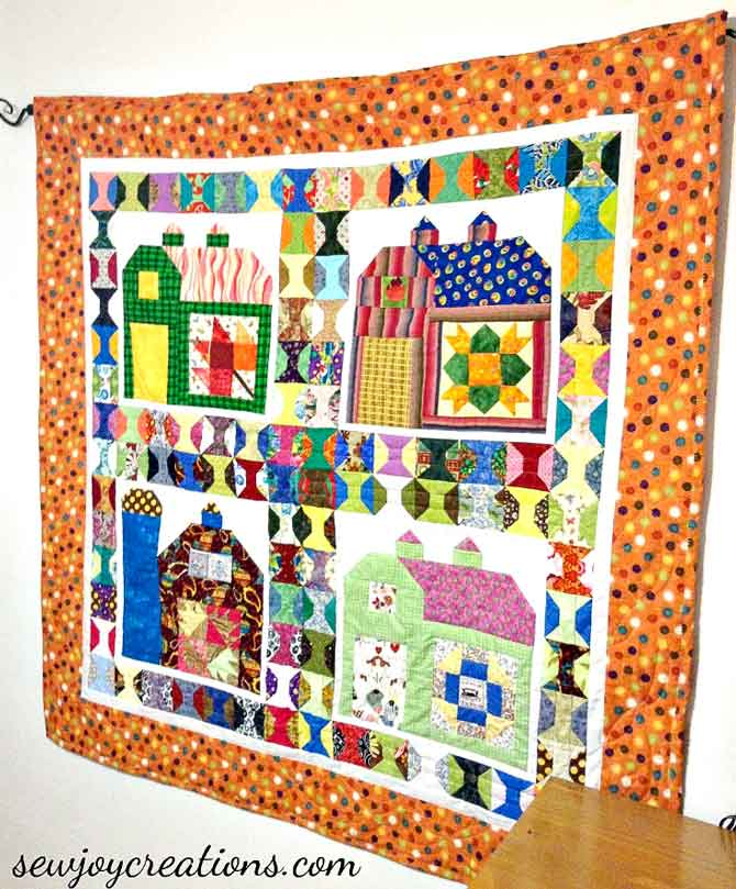 I combined blocks from two different sew-alongs to make my own quilt.