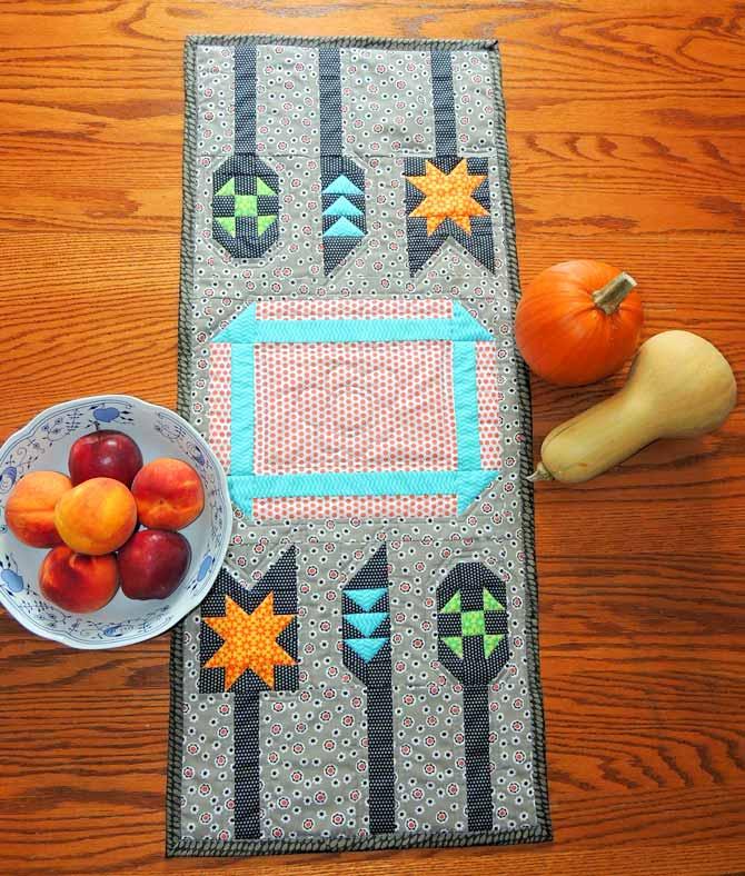 quilted table runner patchwork utensil runner