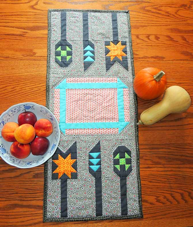quilted table runner patchwork utensil quilt blocks