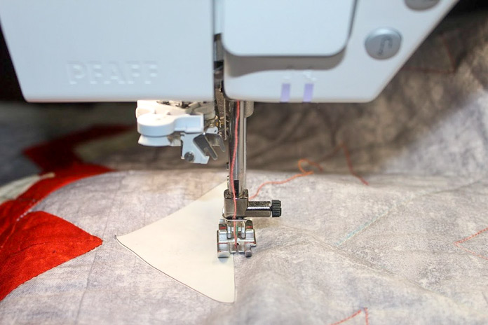 Quilting around the edge of your design