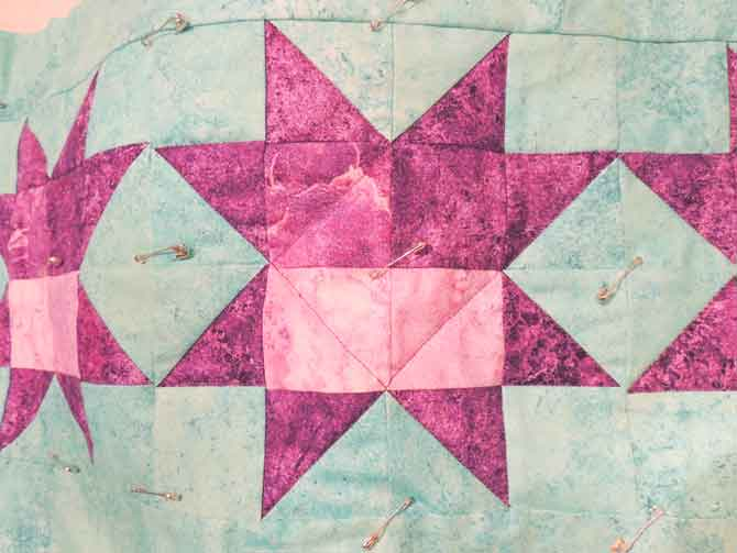 Quilting on star