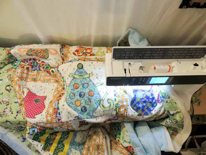 Quilting is made even easier on the creative 3.0 with the extension table - more of the quilt is even with the machine bed which means less drag and more consistent stitches.