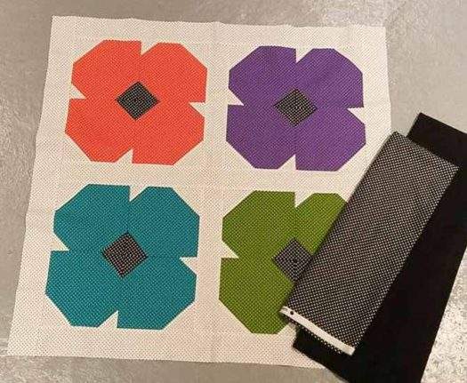 A tabletopper being made with Northcott's Urban Elementz Basix fabric line.