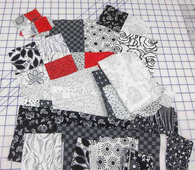 Black and white scraps for my improv houses