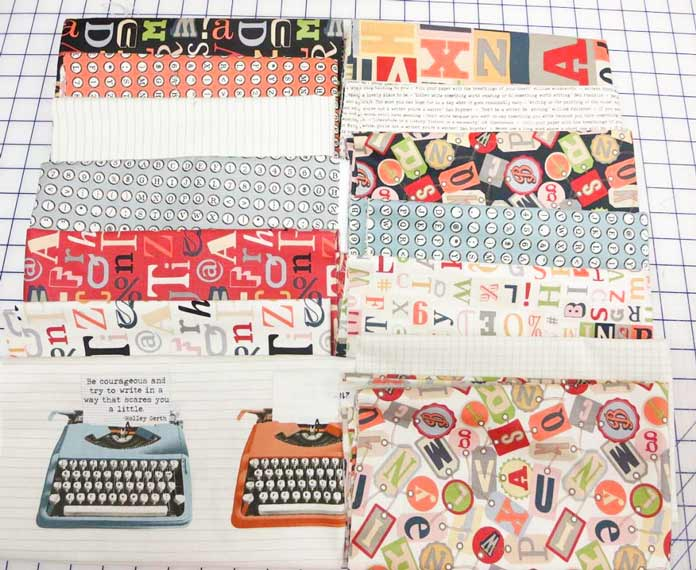 Letterpress fabric from Northcott