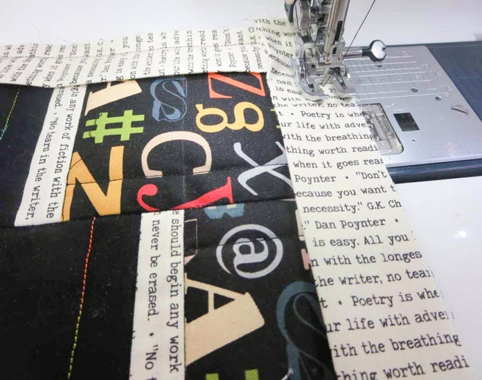 "Use a walking foot to sew on binding with a scant ½"" seam."