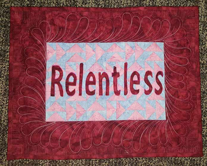 RELENTLESS completed wallhanging