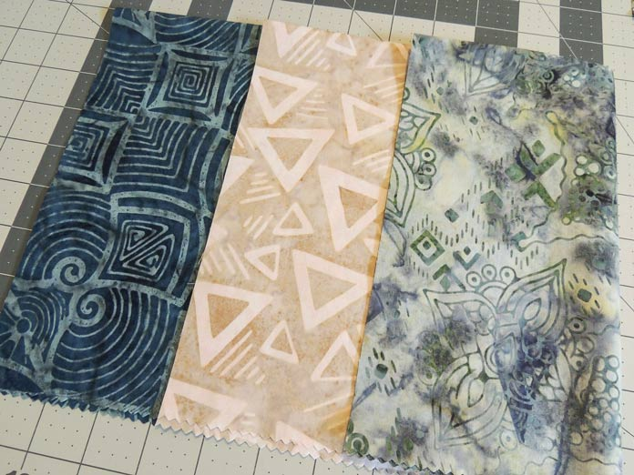 Rock City batik fabrics for checkerboard star block