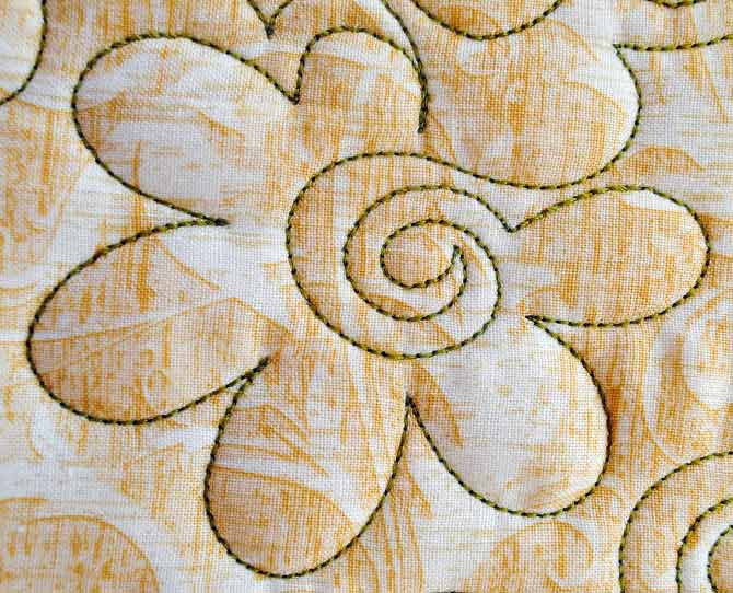 Free Motion Quilting Patterns For Blocks : Free Motion Quilting Fun with Flowers - QUILTsocial