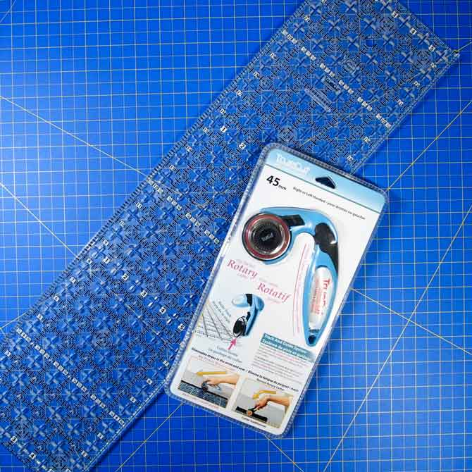 TrueCut ruler, My Perfect Rotary Cutter and Unique cutting mat