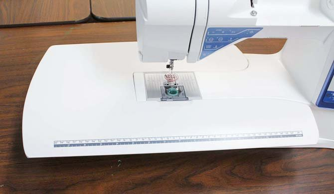 A larger work surface allows for better control with free motion quilting