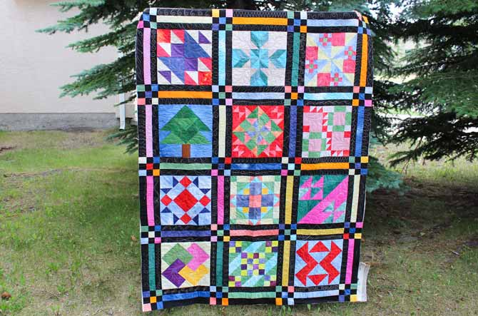 a sampler quilt with Tutti #14 Spring